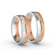 Wedding Rings Rose Gold/White Gold
